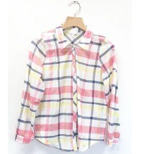 Joie Women's Shirt Button Up Cotton/Silk Size M